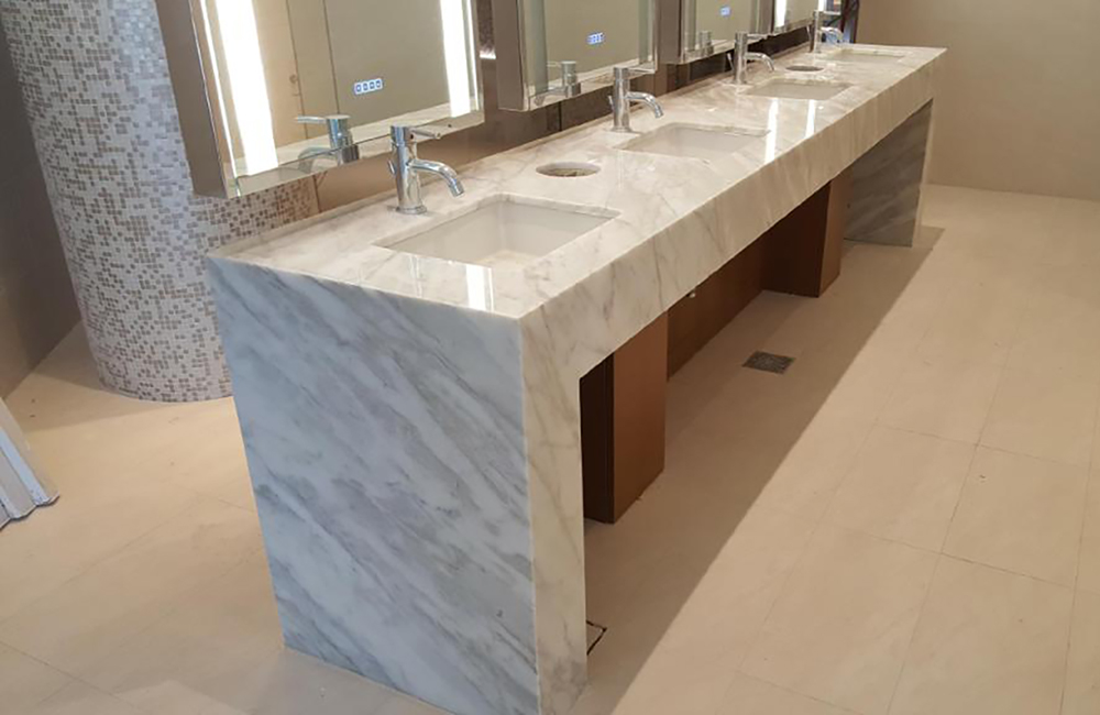 MGM National Harbor marble vanity top