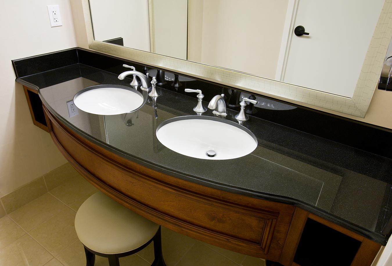 absoulte black granite countertop